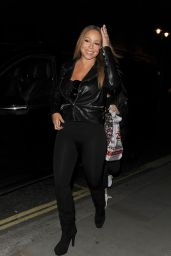 Mariah Carey Night Out in London, UK 3/19/2016