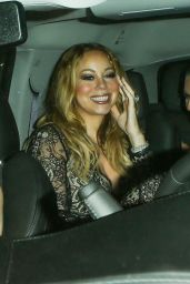 Mariah Carey Night Out Style - Laving Dan Tana