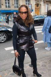 Marjorie Harvey - Arrivals at the John Galliano Fashion Show in Paris 3/6/2016