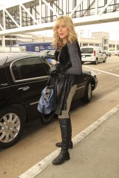 Marla Maples - Flying Out of LAX Wearing Knee-High Boots, March 2016