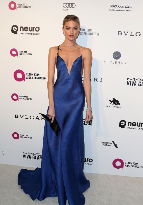 Martha Hunt – 2016 Elton John Academy Awards Viewing Party