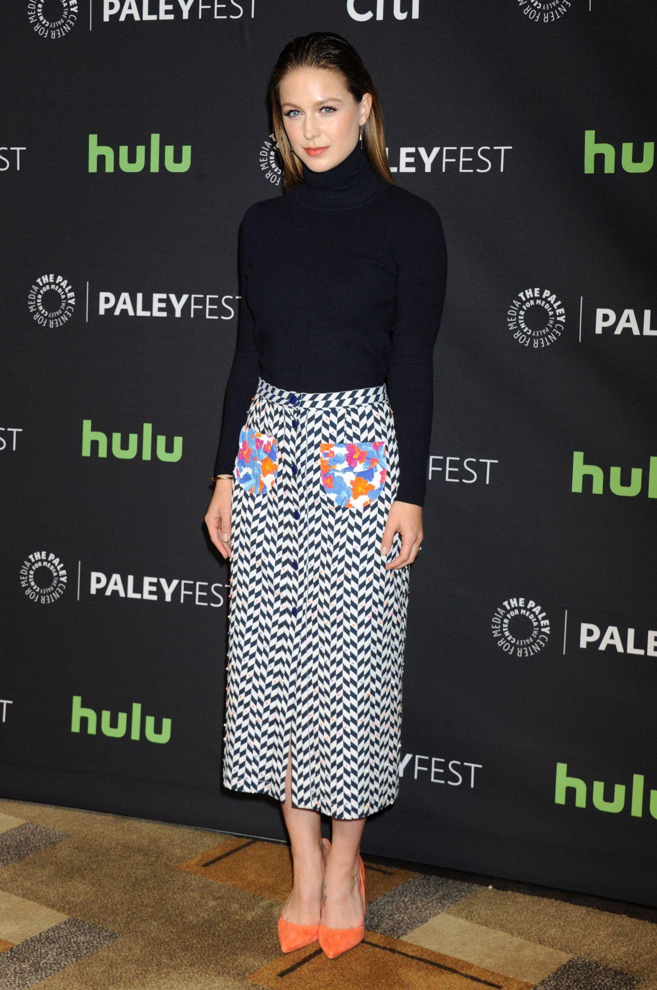 Melissa Benoist Supergirl At 2016 Media Paleyfest Los