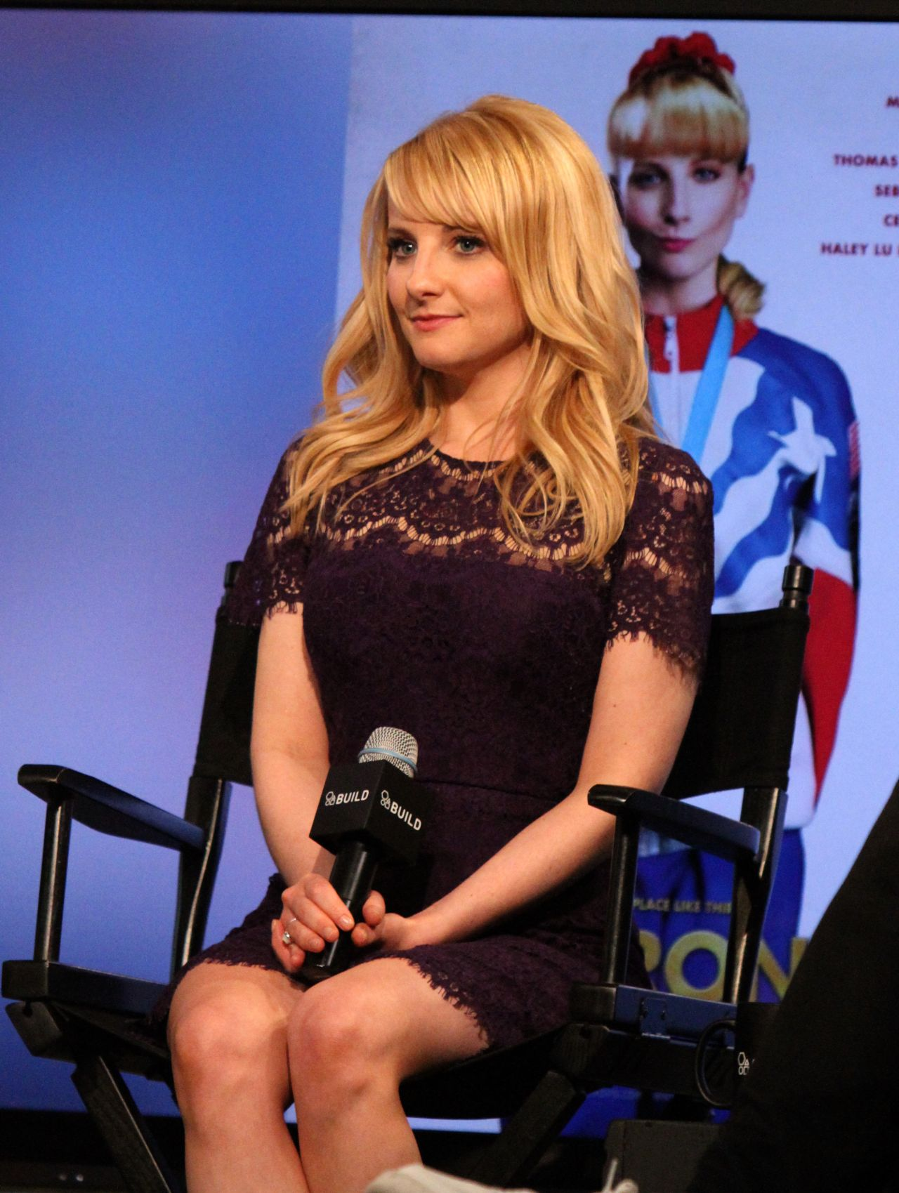 melissa rauch discusses the new film 39 the bronze 39 aol build at aol studios in new york city. Black Bedroom Furniture Sets. Home Design Ideas