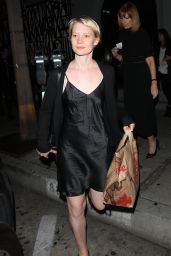 Mia Wasikowska Night Out Style - Leaving Craig