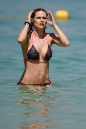 Michelle Hunziker in Bikini - Beach in Dubai 3/27/2016