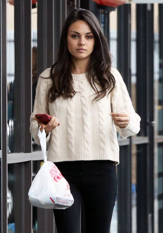 Mila Kunis Street Style - Out in Los Angeles, 3/7/2016
