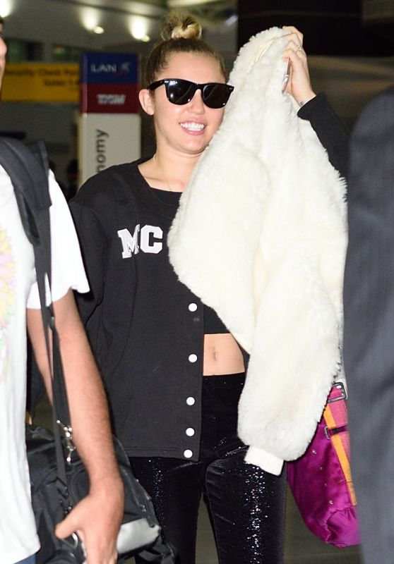Miley Cyrus at JFK Airport in NYC, February 2016