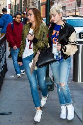Miley Cyrus - Leaving Madison Square Garden in New York City 3/26/2016