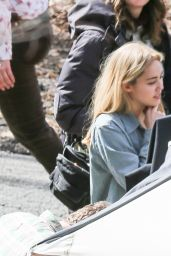 Miley Cyrus on the Set of Woody Allen