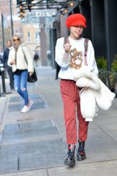 Miley Cyrus Street Style - Out in NYC 2/29/2016