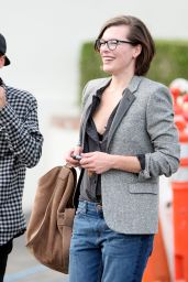 Milla Jovovich - Lunch in West Hollywood, March 2016
