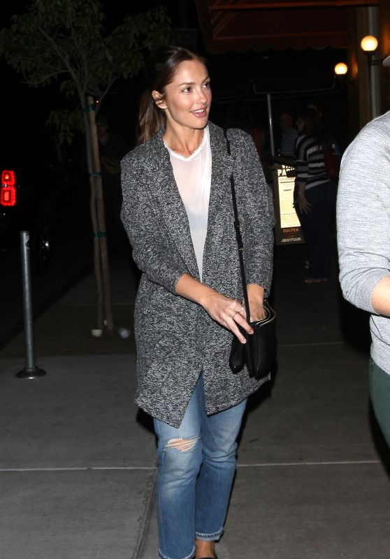 Minka Kelly - at Osteria Mozza Restaurant in West Hollywood, CA 3/23/2016