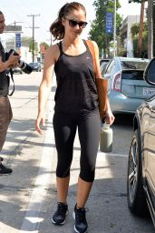 Minka Kelly in Leggings - at the Gym at Rise Movement Private Studio 3/1/2016