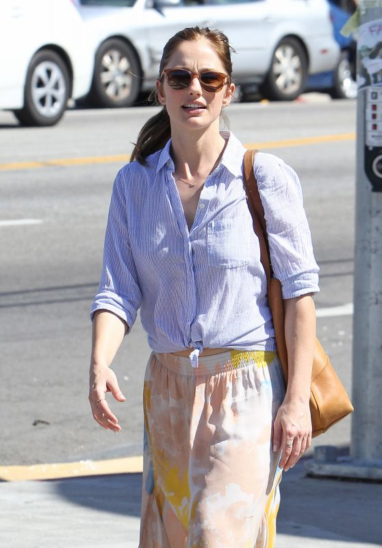 Minka Kelly Street Style - Out for Lunch in Los Angeles, March 2016