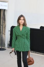 Miroslava Duma at Celine Fashion Show Fall/Winter 2016-2017 in Paris 3/6/2016