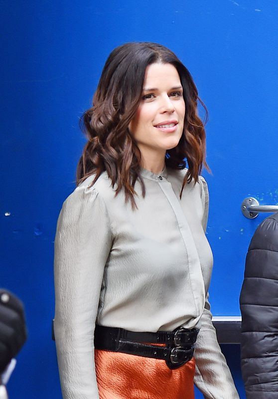 Neve Campbell - Leaving Good Morning America Studios in New York City 3/11/2016