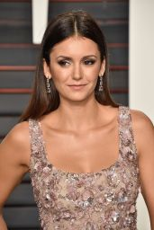 Nina Dobrev – 2016 Vanity Fair Oscar Party in Beverly Hills, CA