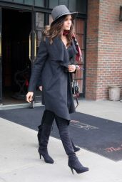 Nina Dobrev Street Fashion - Out in NYC 3/15/2016