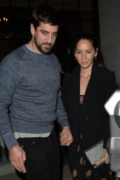 Olivia Munn and Aaron Rodgers Have Dinner at Gracias Madre in Los Angeles 3/15/2016