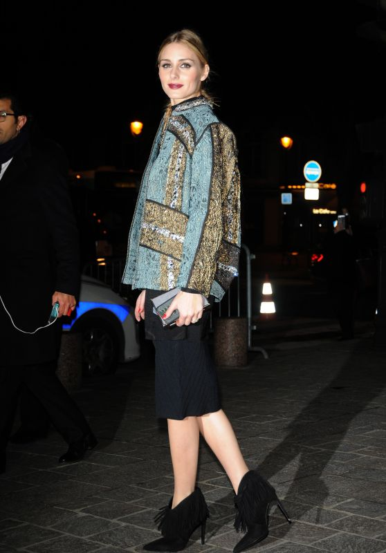 Olivia Palermo Arriving at H&M Fashion Show – Paris Fashion Week, March 2016