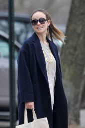 Olivia Wilde Street Style - Out in Brooklyn, NY 3/13/2016