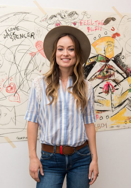 Olivia Wilde - Unveils Music Video For Edward Sharpe And The Magnetic Zeroes in Los Angeles, March 2016
