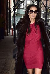 Padma Lakshmi in Soho With a Beautiful Red Dress - New York City, March 2016