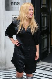 Paloma Faith Fashion - Leaving BBC Radio Two studios London 3/18/2016
