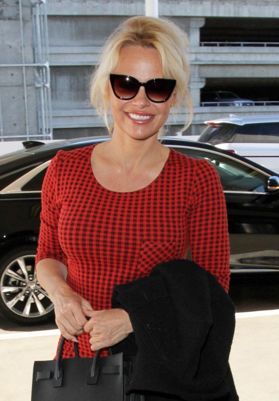 Pamela Anderson at LAX Airport in Los Angeles, March 2016