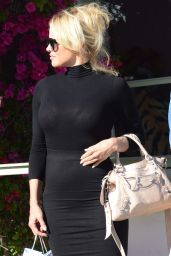 Pamela Anderson - Outside The Ivy in Santa Monica, 3/23/2016