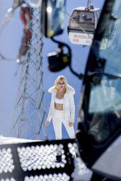 Pixie Lott in a Bikini - Swiss Alps 3/28/2016