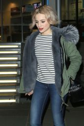 Pixie Lott in Jeans - Outside the Marlowe Theatre in Canterbury, UK 3/16/2016