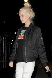 Poppy Delevingne Night Out in London, March 2016