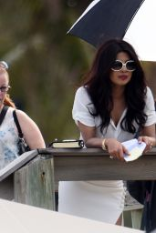 Priyanka Chopra - Films Scenes for the Movie Baywatch in Miami, FL 3/2/2016