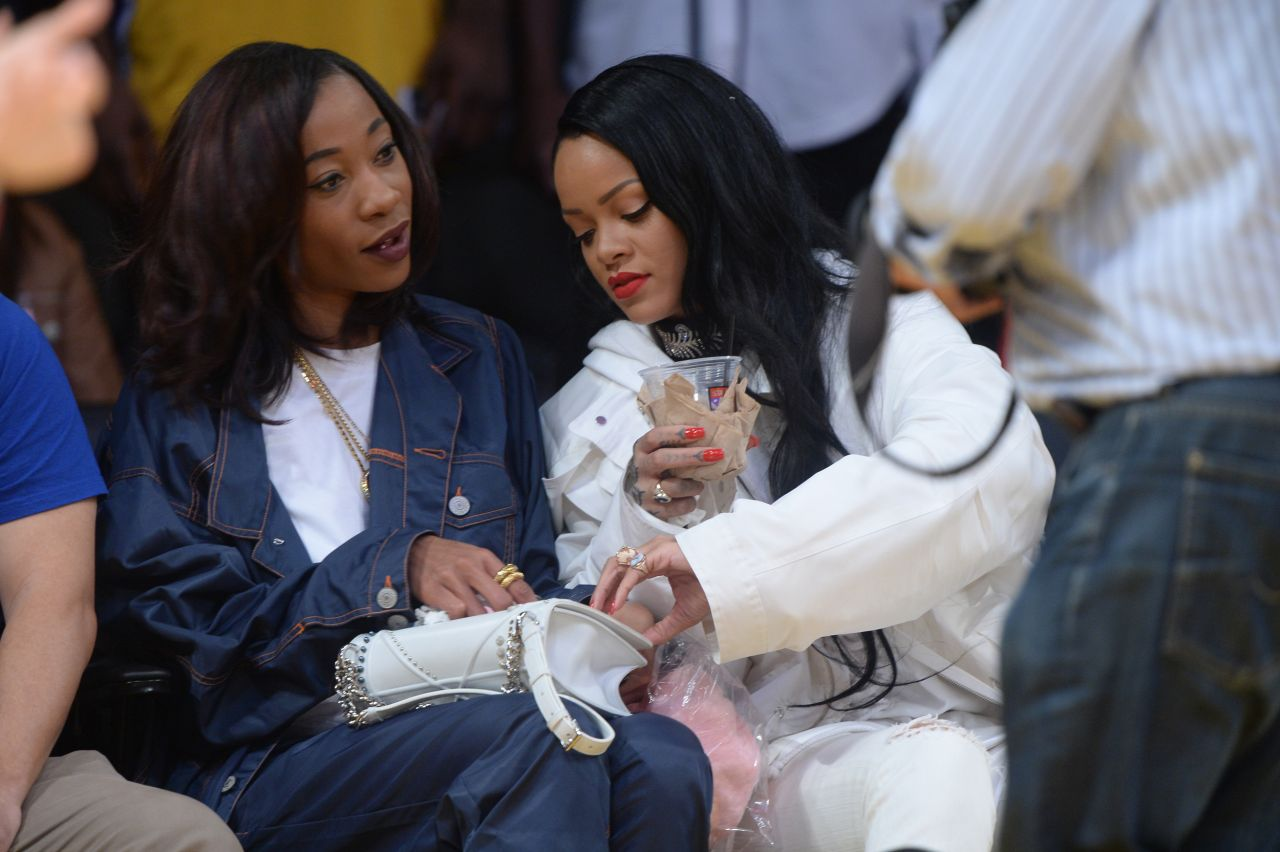 rihanna at a clippers game with her bff melissa forde in los angeles 3. Cars Review. Best American Auto & Cars Review