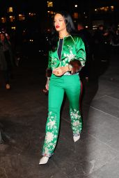 Rihanna Looks Great in Green - Out in New York City 3/28/2016