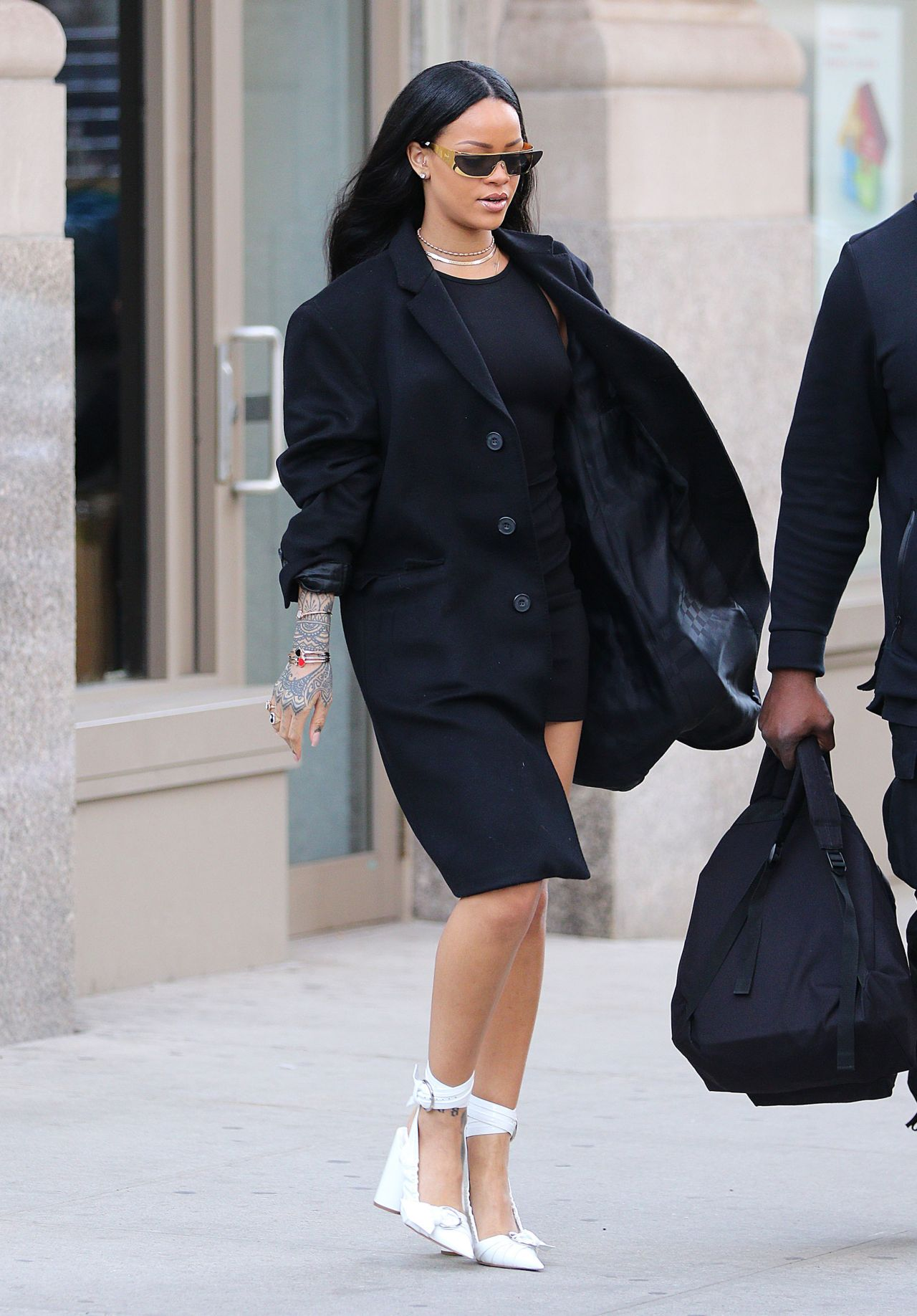 Rihanna Street Fashion New York City 3 30 2016