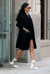 Rihanna Street Fashion - New York City, 3/30/2016
