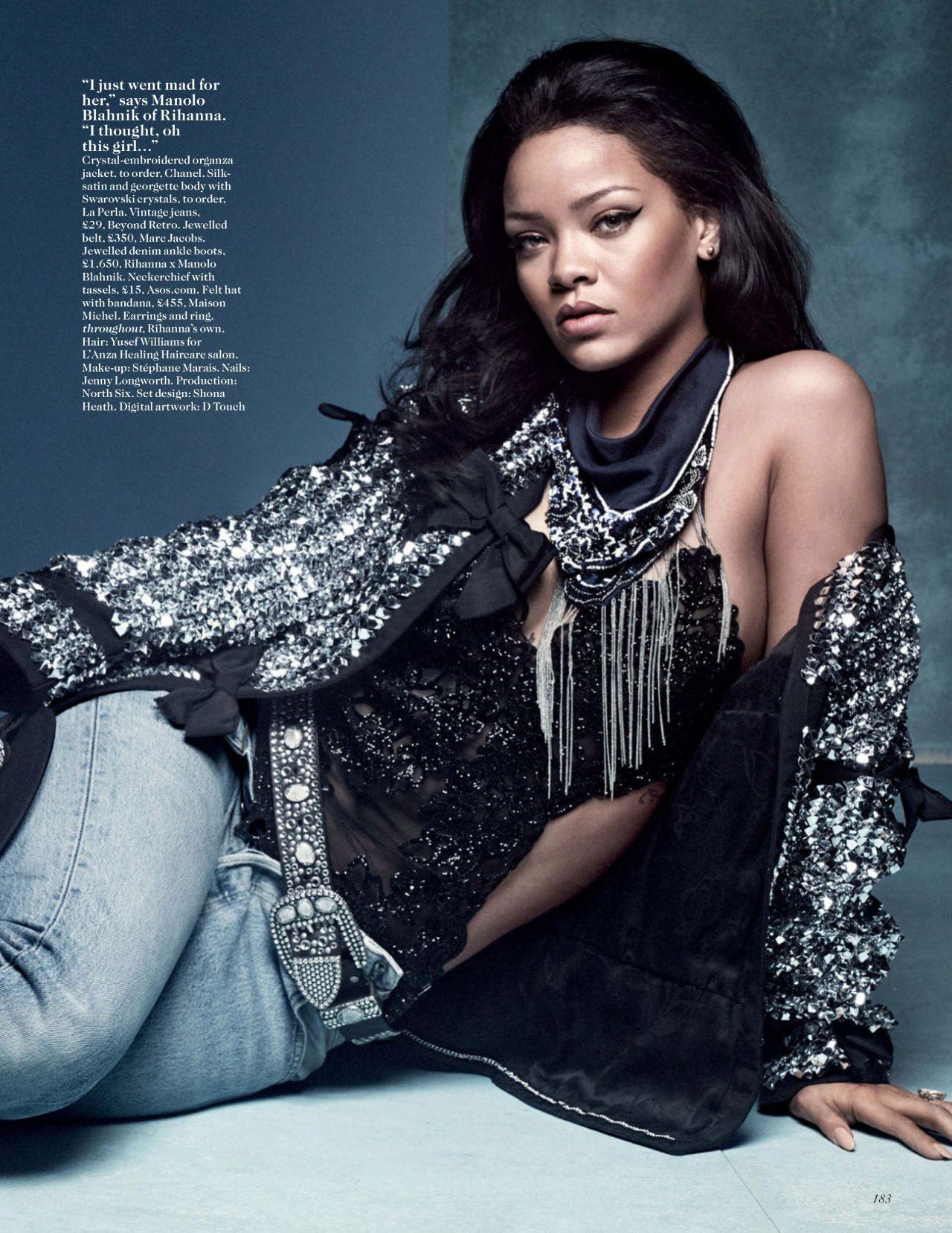 Rihanna – Vogue Magazine UK April 2016 Issue Rihanna 2016