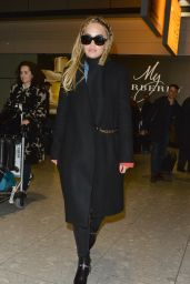 Rita Ora at Heathrow Airport in London, UK 3/18/2016