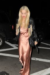 Rita Ora Night Out Style - at ACME Restaurant in New York City, March 2016