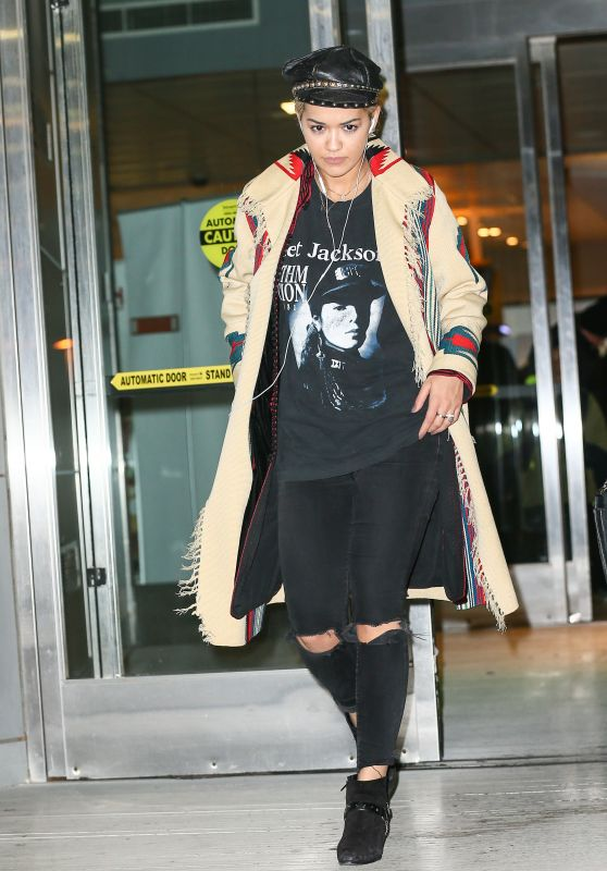 Rita Ora Style - at JFK Airport in NYC 3/3/2016