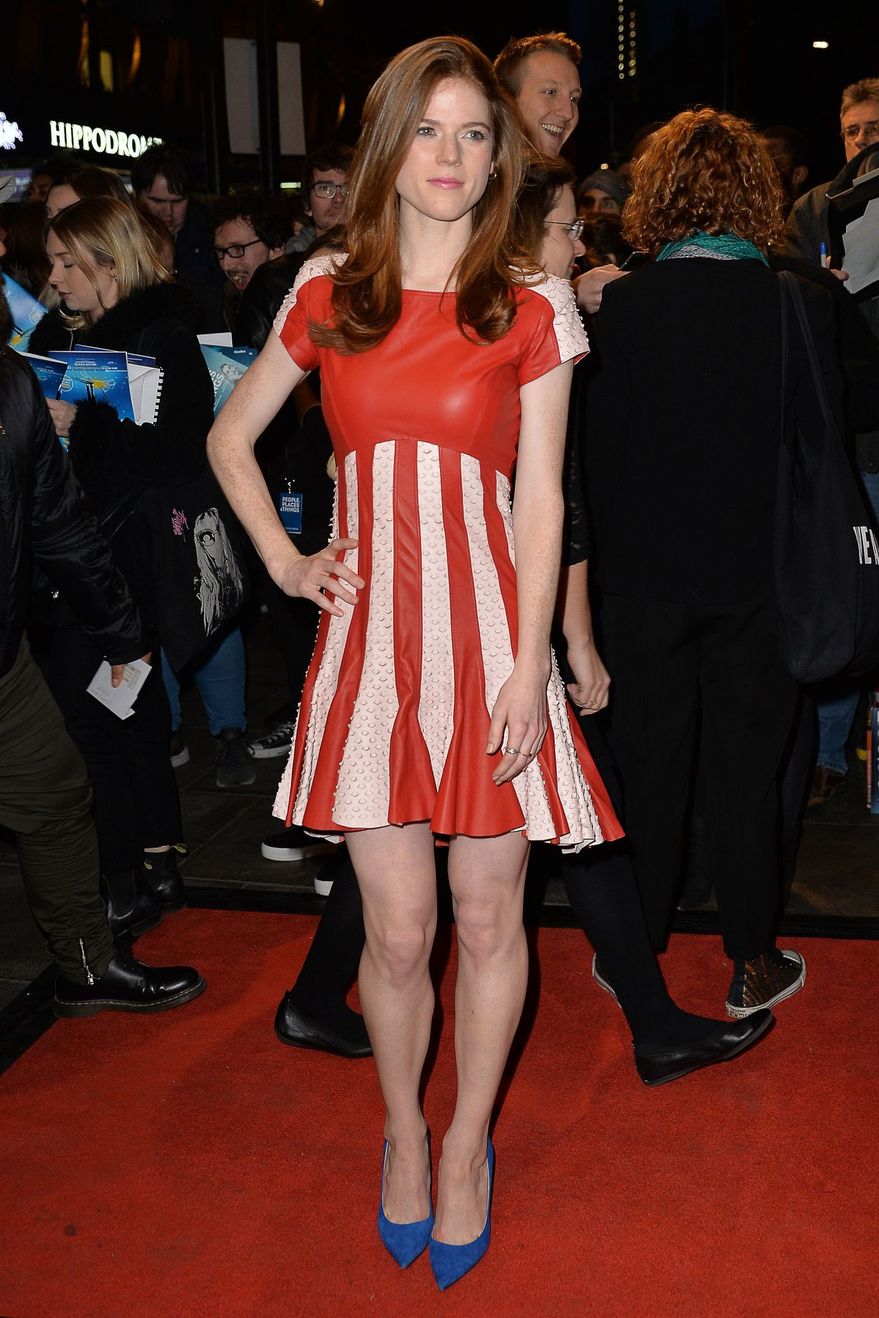 Rose Leslie People Places And Things Press Night In