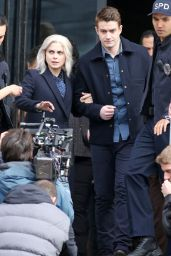 Rose McIver On the Set of