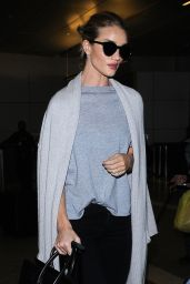 Rosie Huntington-Whiteley at LAX Airport, March 2016