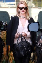Rosie Huntington-Whiteley Chic Street Style - Los Angeles, CA 3/14/2016