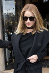 Rosie Huntington-Whiteley - Leaving Her Hotel in Paris 3/3/2016