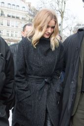Rosie Huntington-Whiteley Street Style - at the Domaine du Palais Royal in Paris, March 2016