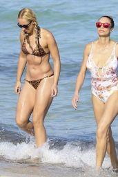 Sabine Lisicki in Leopard Print Bikini on the Beach in Miami, March 2016