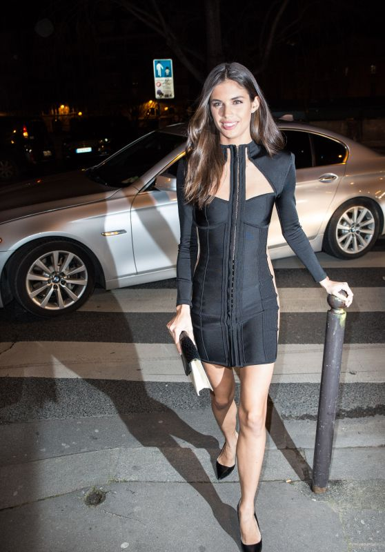 Sara Sampaio - Balmain After Show Party in Paris, March 2016
